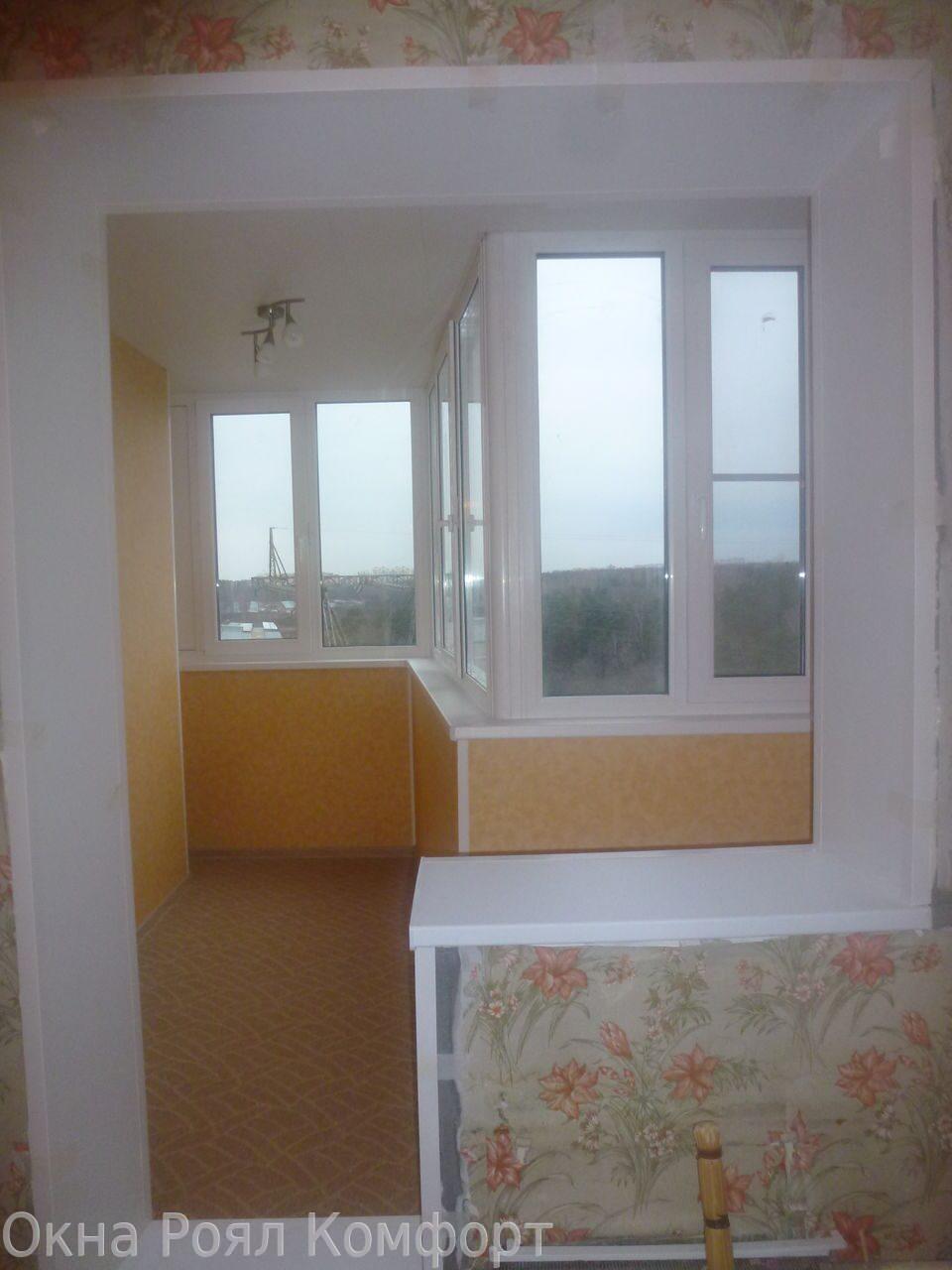Остекление балкона п-3.