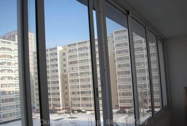 Остекление балкона ii 68: практичное решение.
