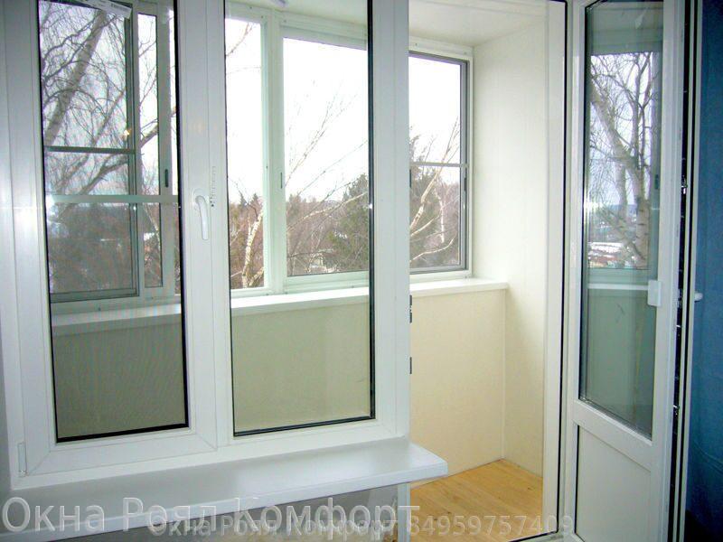 Остекление балкона пластиковыми окнами от роял комфорт: фото.