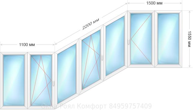 остекление балконов лодка
