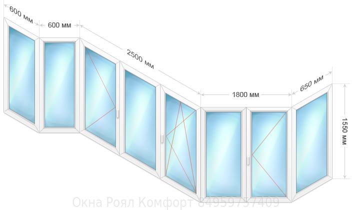 Пластиковые окна лоджию цена калькулятор