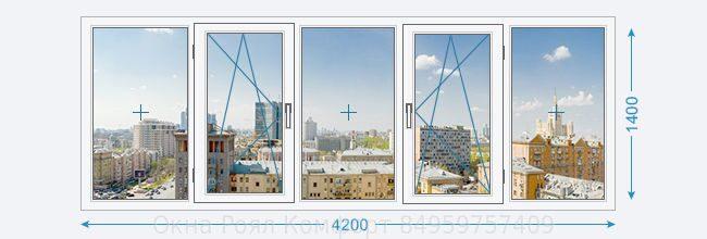 Остекление балконов и-155н в москве.