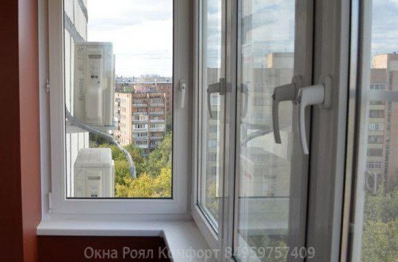 Оптимальное остекление балкона в балашихе окнами пвх с отдел.