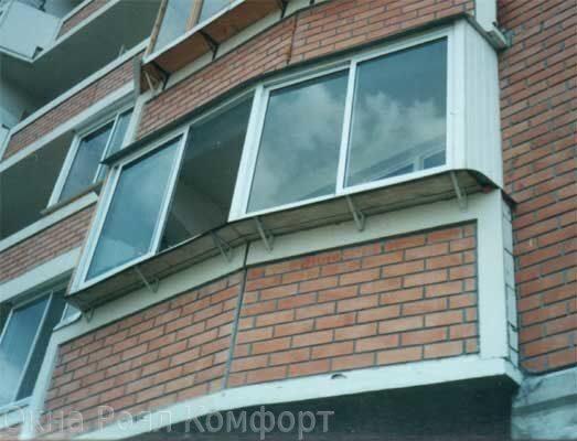Качественное остекление круглого балкона в москве.