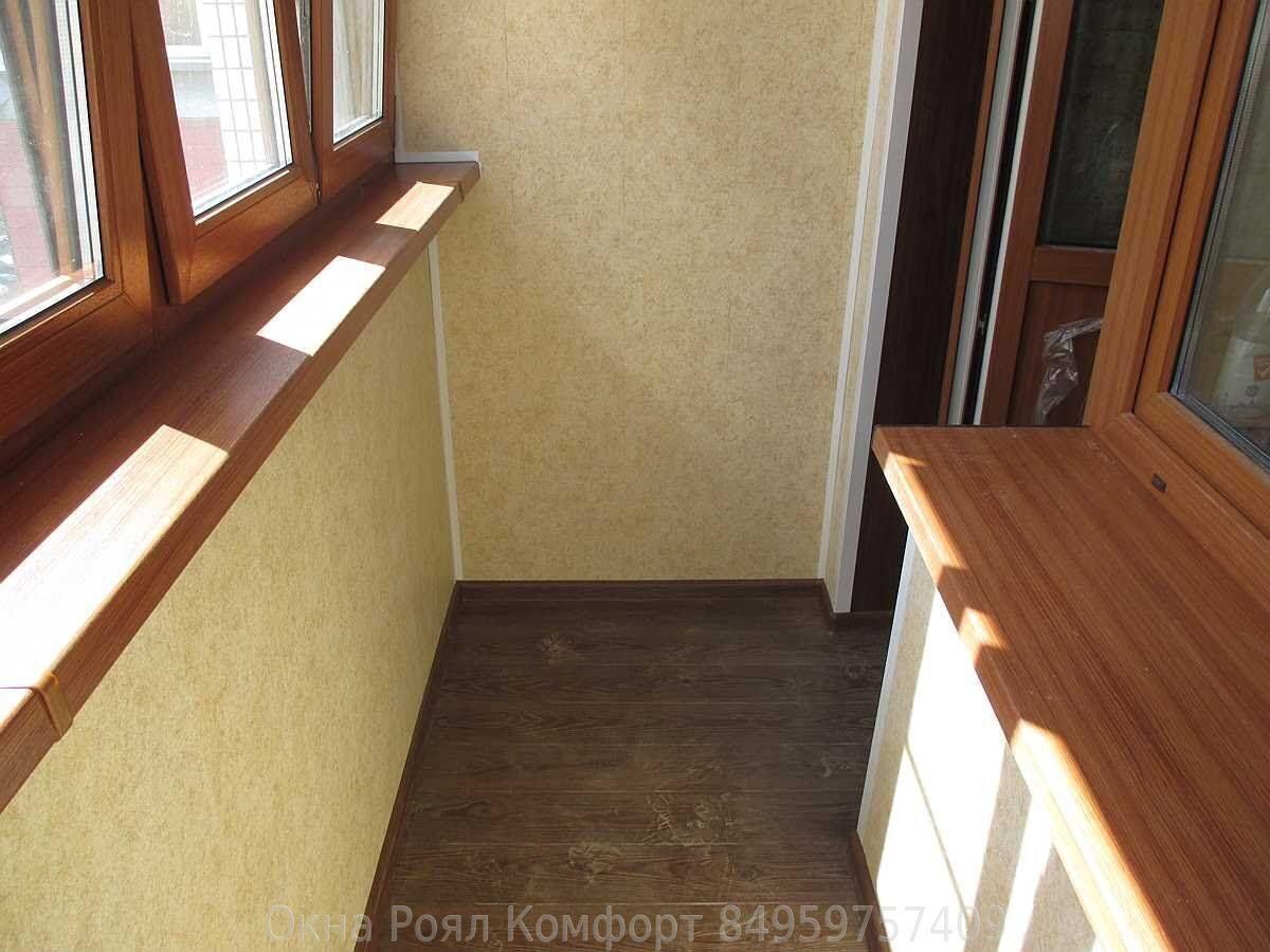 Отделка балконов и лоджий пластиковыми панелями пвх на фото .