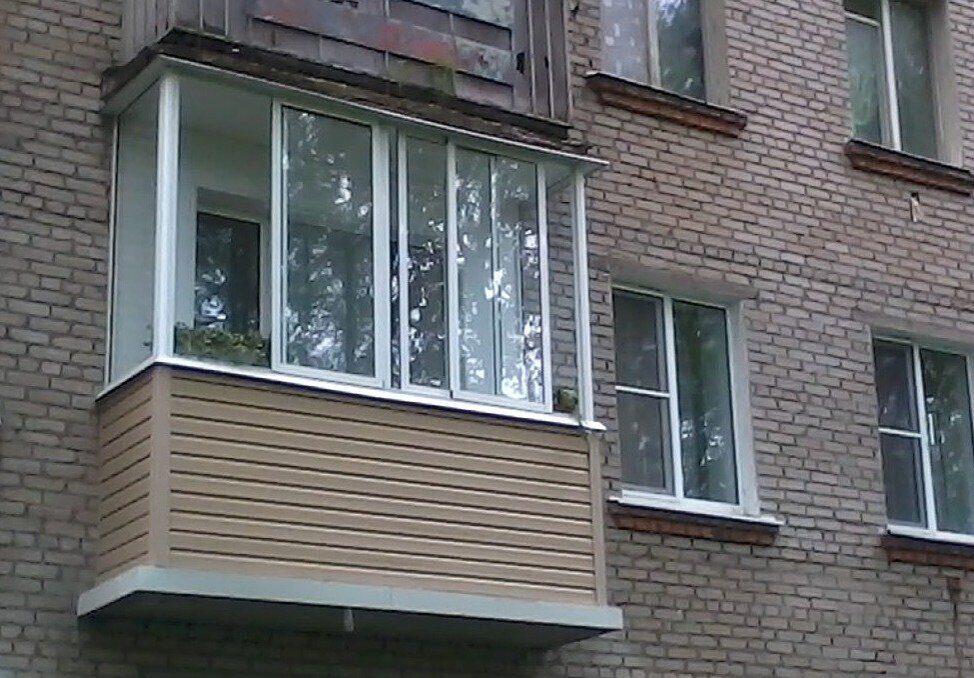 Остекление балконов в хрущевке. хрущевка - остекление без пе.